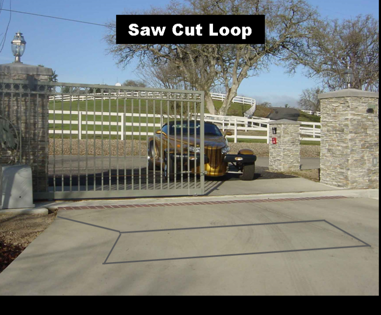 wireless loop detector  access one innovative access control simple to install using a 2 drill bit